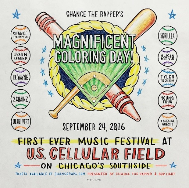 Chance The Rapper Announces 'Magnificent Coloring Day' Festival in Chicago, feat. Skrillex, John Legend + more