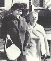 Rosemary Kennedy 34 yrs after lobotomy with nun companion
