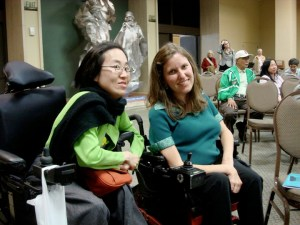 Jessica Lehman (R) with Alice Wong