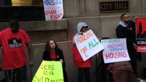 Chicago Advocates with the Disability Rights Coalition for Housing