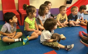 Story time at Push My Swing