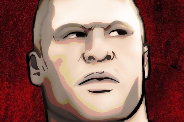 Brock Lesnar (art credit Grant Gould (c) PWTorch)