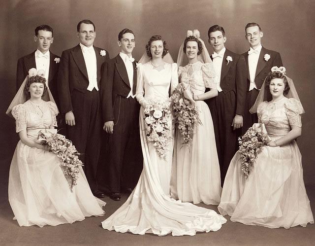 1940s Wedding Group