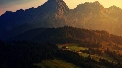 Wallpaper sunset, forest, mountains, 6K, Nature 6K, forest, mountains, sunset Wallpaper Download ...