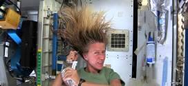 فيديو:شاهد  كيف يغسل رواد الفضاء شعرهم في الفضاء