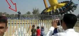 فيديو: عراقي تقذفه لعبة داخل مدينة الملاهي بعد أن حاول المرور أمامها !