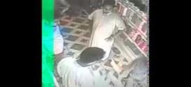 شاهد : #حرامي يتنكر بزي عسكري ويسرق محل تلفونات !