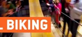 شاهد : اقوى وأدهش عرض لدراجة هوائية داخل مجمع تجاري !