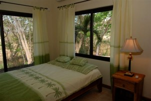 Each bedroom has a view of the jungle and the pool.