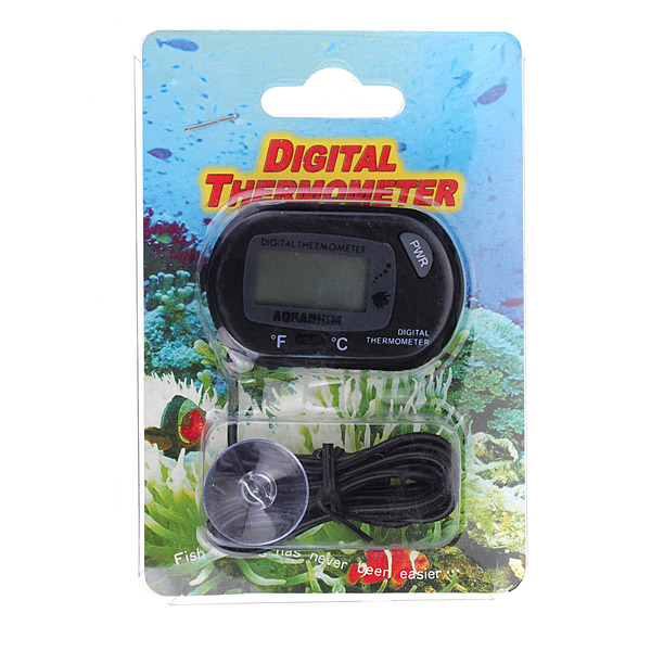 Saltwater fish tank temperature digital lcd fish for Fish tank temperature