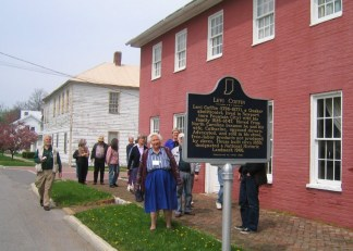 A field trip to the Levi Coffin house in Fountain City. Run entirely by very dedicated volunteers, it's the only home still standing of Levi and Catharine Coffin, Friends who helped thousands of escaped slaves get to Canada through the Underground Railroad.