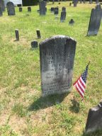 Many many tombstones, some dating back to Revolutionary War veterans.