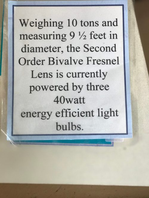 Sign for the lens.
