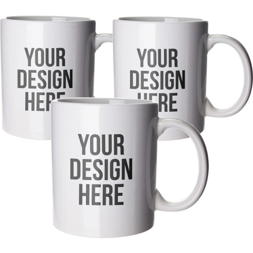 Comfortable Porcelain Coffee Mugs Large Handle Large Coffee Mug Custom Logo Budget Coffee Mug Branded Promotional Budget Coffee Mugs