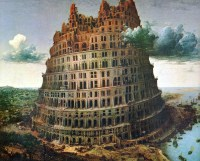 God's response- Tower of Babel,  by Bruegel