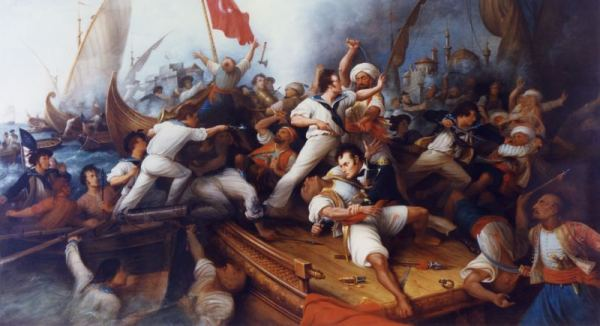 America resisting the Barbary pirates
