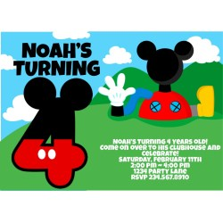 Small Crop Of Mickey Mouse Birthday Invitations