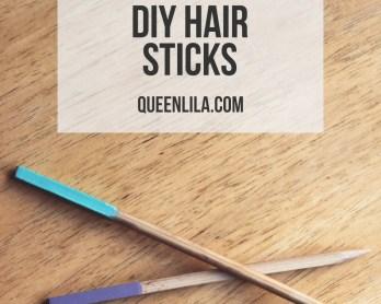 DIY hair sticks. Click through for the tutorial! | Queen Lila