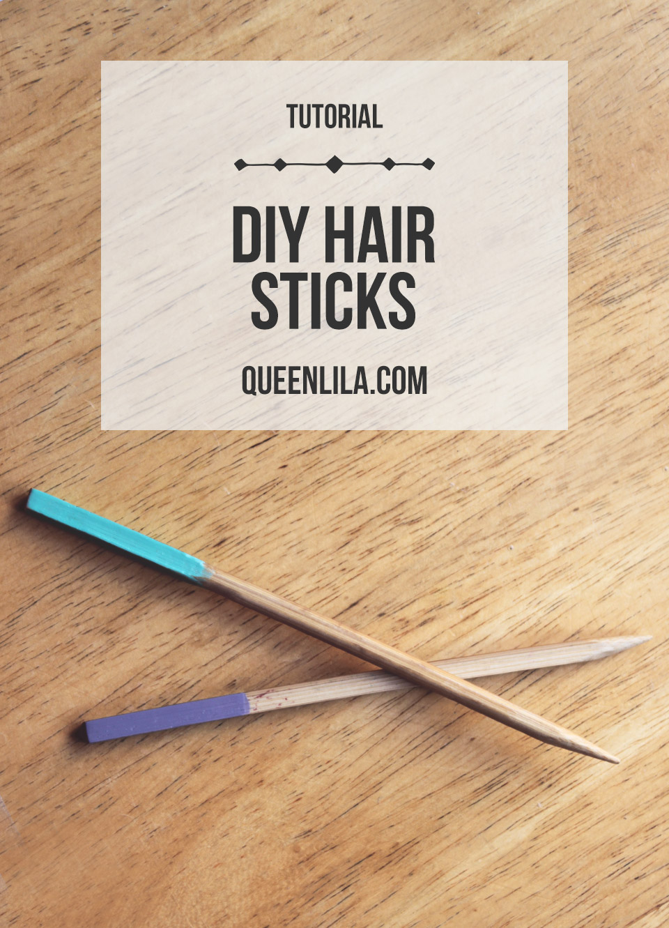 DIY hair sticks. Click through for the tutorial! | Queen Lila