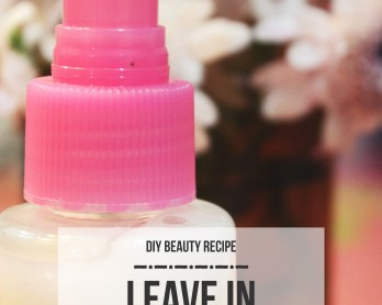 DIY Leave-in Conditioner by queenlila.com | Click through for the recipe!