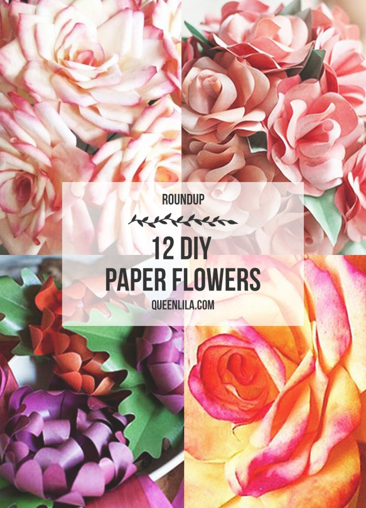 12 DIY Paper Flowers for Spring! Click through for the roundup! | Queen Lila