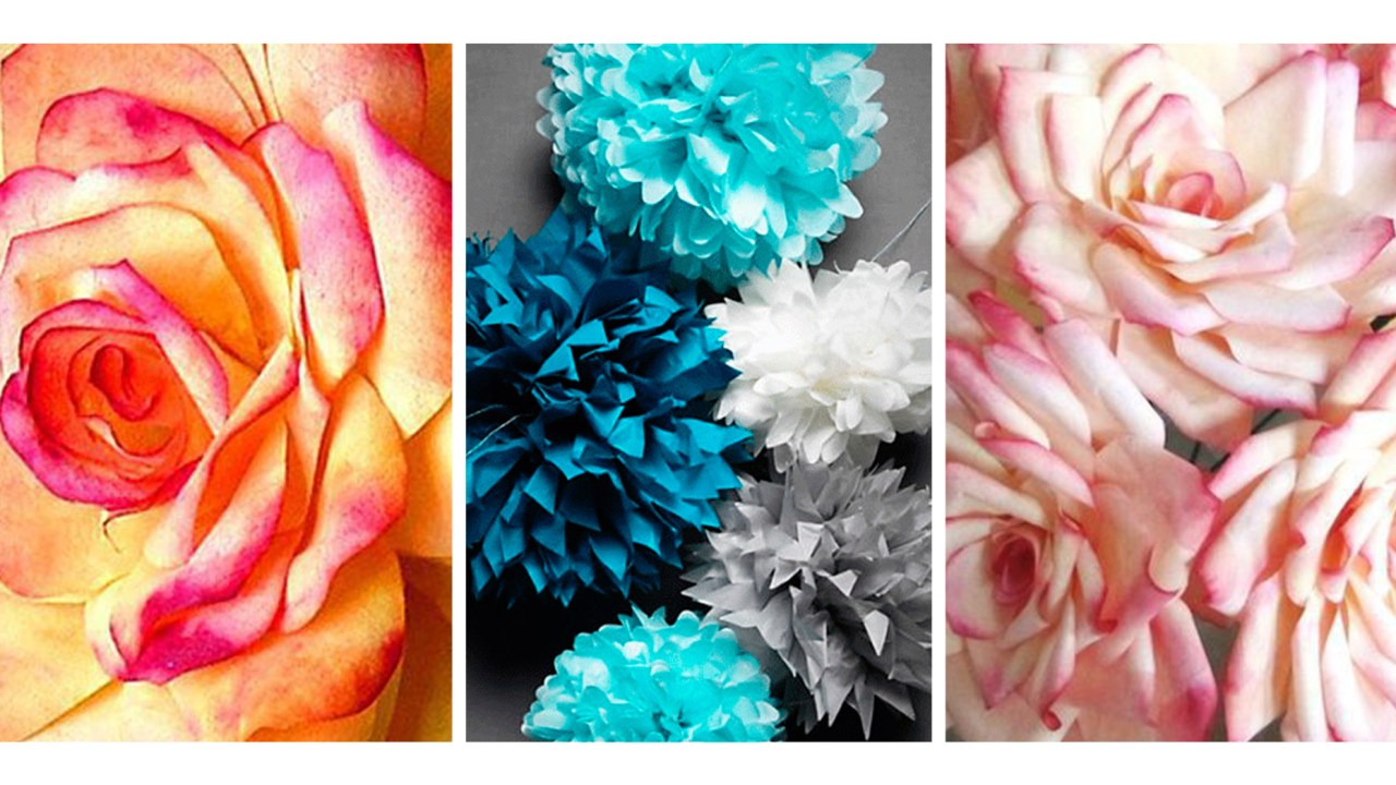 12 DIY Paper Flowers for Spring Roundup by queenlila.com. Click through for the roundup!