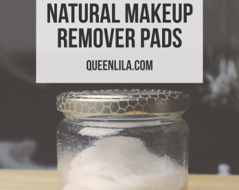 Make your own all-natural makeup remover pads. Click through for the how-to! | Queen Lila