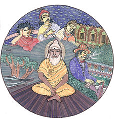 Hindu reincarnation illustration via Wikipedia