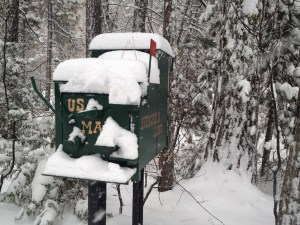 Even the snail mail was snowed in.
