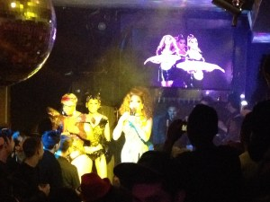 On St. Patrick's Day 2014 she had Gia Gunn and Vivacious as guests.