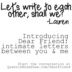 Let's Write to Each Other, Shall We? Square
