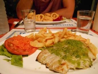 Poisson frites & calamars frites