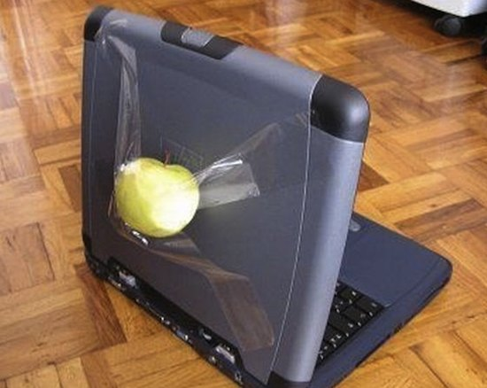 La notebook de la manzana