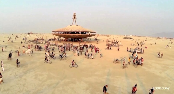 Burning Man 2013 desde un drone