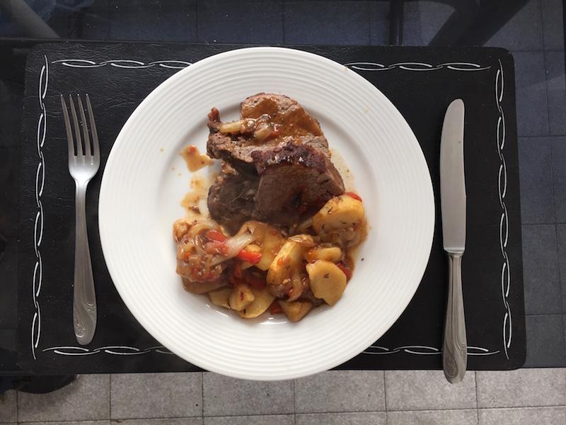 Carne al horno con papas en bolsa Knorr