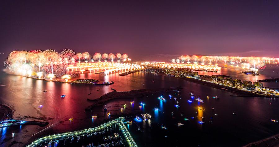 Año nuevo en Dubai 2014: Récord de fuegos artificiales