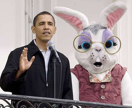 Obama y el conejo de pascuas