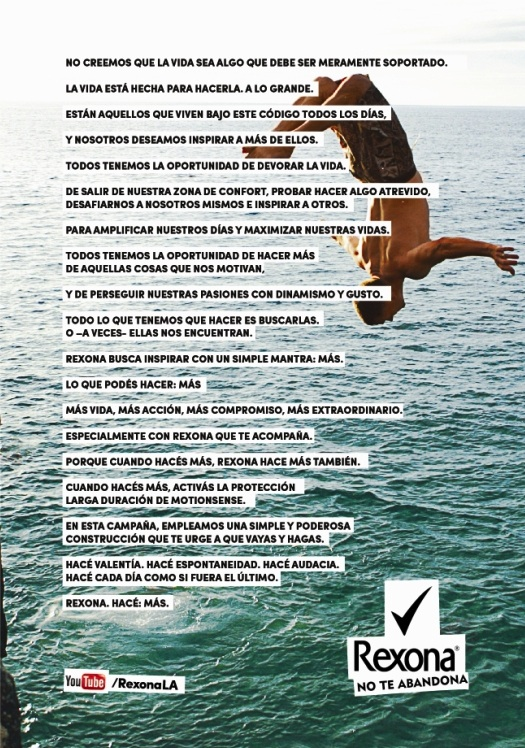 Manifiesto Rexona: Hac ms