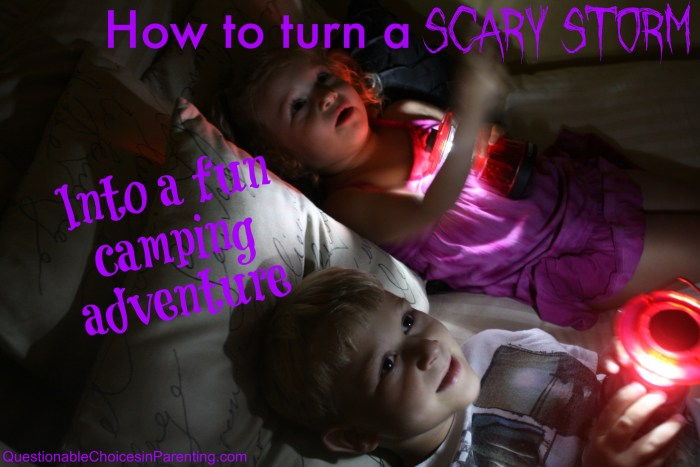 How to turn a scary storm into a fun camping adventure #PrepWithPower #CollectiveBias
