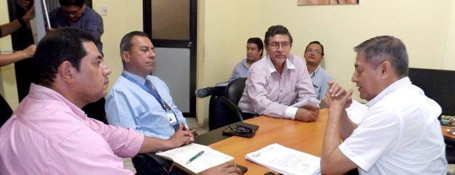 Alcalde Jorge Domínguez recibió la visita protocolaria de autoridades de CNEL