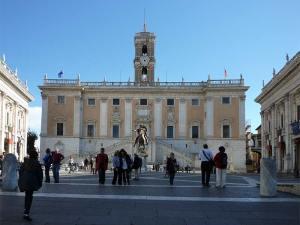 Le Capitole avec la statue équestre de Marc Aurèle