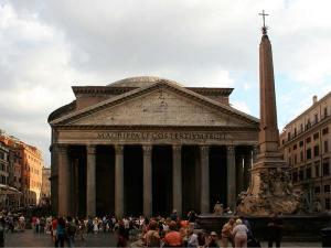 Le Panthéon à Rome sur la Piazza della Rotonda