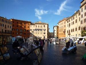 La Piazza Navona et ses artistes