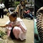 """إمرأة هندية تتزوج من """"ثعبان الكوبرا"""""""