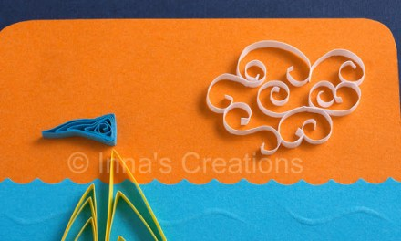 Paper Quilling Sailboat and Crab Greeting Card Tutorial