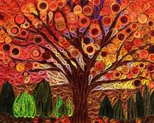 Paper Quilling Tree Silhouette Mosaic Tutorial