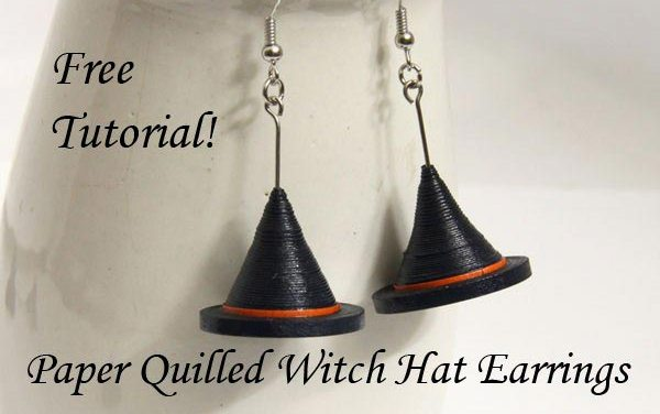 Paper Quilled Witch Hat Earrings Tutorial