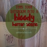 DIY Halloween Bathroom Decor. Or How Chrissy is SERIOUSLY Twisted: 2013 Edition