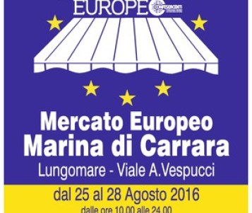 """Ritorna a Marina di Carrara il """"Mercato Europeo"""".  Sapori e artigianato in riva al mare"""