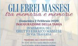 """""""GLI EBREI MASSESI TRA MEMORIA E MEMORIE"""" - Inaugurazione di una targa nell'antico ghetto di Massa"""
